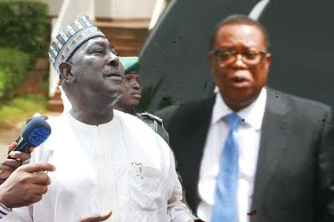 ecretary to the Government of the Federation, Mr Babachir Lawal and Suspended Nigeria Intelligent Agency NIA Ayo Oke