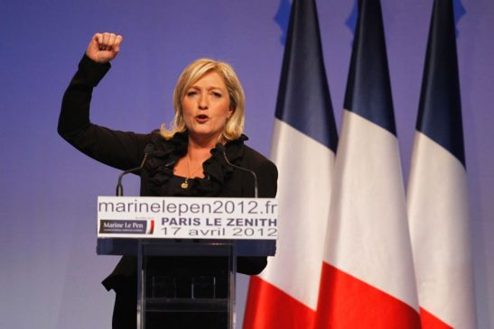 Print  Email  Facebook  Twitter  More French election: How Marine Le Pen could win even if she polls below 50 per cent OPINION The Conversation By Serge Galam, Sciences Po Posted 38 minutes ago  Marine Le Pen pumps her fist at a campaign rally PHOTO: Marine Le Pen is behind in the polls, but she could still become president if abstentions are in her favour