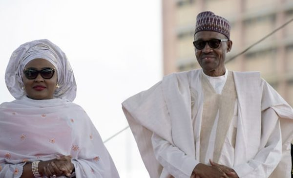 President Buhari with his wife, Aisha, in 2015. Photograph: Pius Utomi Ekpei/AFP/Getty Images